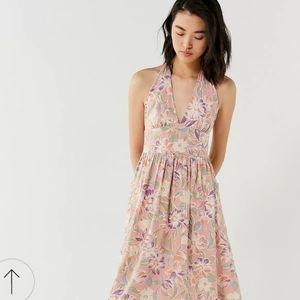 UO Betsey Jezebel floral halter midi dress